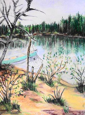 Chain Lakes Duck Mountain Mb Art Print by Janice Robertson