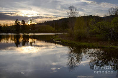 Photograph - Chain Lakes Sunset by Idaho Scenic Images Linda Lantzy