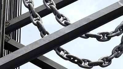 Photograph - Chain Links by Mark Alesse