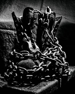 Photograph - Chain N Boots by Philip A Swiderski Jr