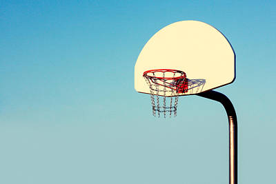 Basketball Hoop Photograph - Chain Net by Todd Klassy