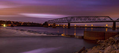 Photograph - Chain Of Rocks Bridge At Dusk by Garry McMichael