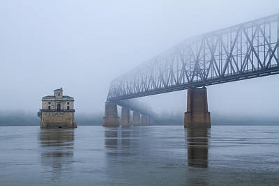 Photograph - Chain Of Rocks Bridge Over Mississippi River by Garry McMichael