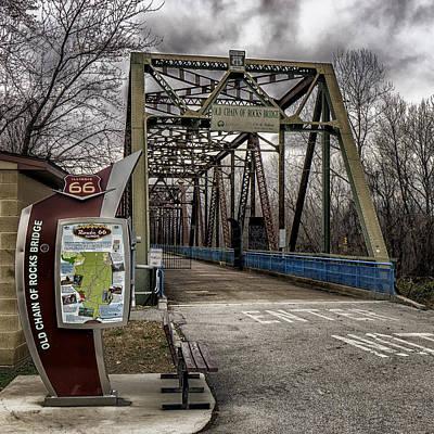 Photograph - Chain Of Rocks Bridge Route 66 Dsc09586-7-8 by Greg Kluempers