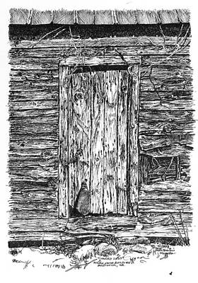 Peter Muzyka Wall Art - Drawing - Chained Shut by Peter Muzyka