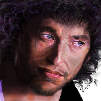 Bob Dylan Painting - Chained To The Sky -  Bob Dylan  by Reggie Duffie