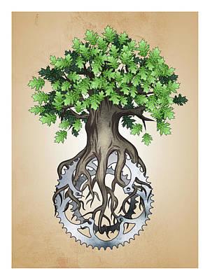Chainring Digital Art - Chainring Tree by John Petersen