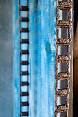 Photograph - Chains And Blue Wood by John McArthur