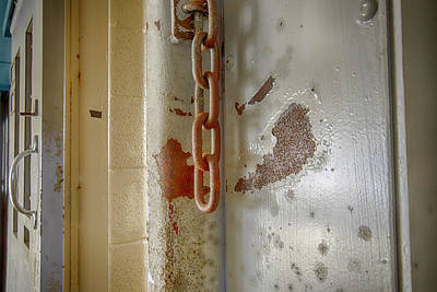 Olympic Sports - Chains on prison cell door by Karen Foley