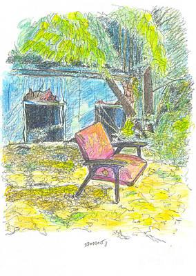 Everyday Life Drawing - Chair, 27 September, 2015 by Tatiana Chernyavskaya