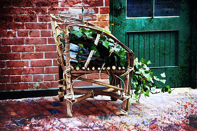Chair And Ivy Art Print by Elaine Manley