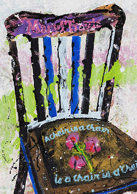 Chair Painting - Chair At Oxbow by Rich Travis