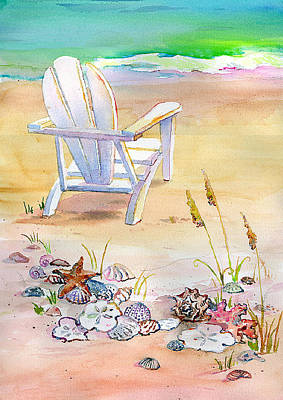 Painting - Chair At The Beach by Kathleen  Gwinnett