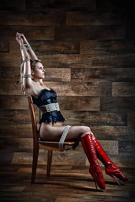 Art Nude Erotic Bondage Photograph - Chair Bondage - Fine Art Of Bondage by Rod Meier