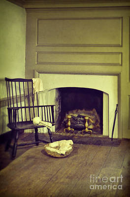 Photograph - Chair By The Fireplace by Jill Battaglia