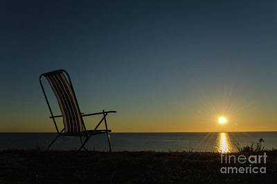 Photograph - Chair By The Setting Sun by Kennerth and Birgitta Kullman