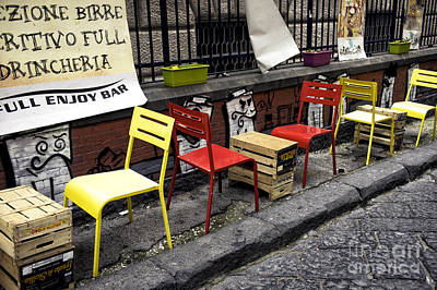 Photograph - Chair Colors In Naples by John Rizzuto