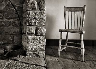 Photograph - Chair - Fireplace by Nikolyn McDonald