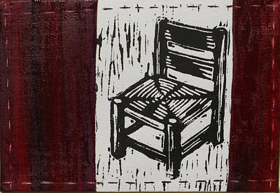 Lino Mixed Media - Chair I by Peter Allan