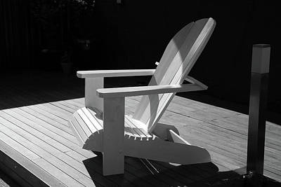 Photograph - Chair In Black And White by Nareeta Martin