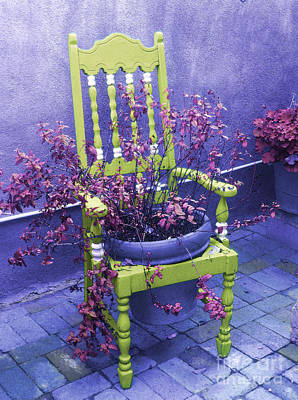 Chair In Chartreuse		 Art Print by Ann Johndro-Collins