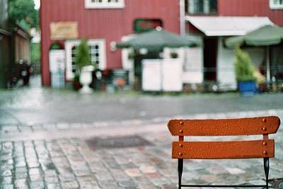 Chair In Trondheim Art Print by Gregory Barger