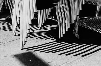Photograph - Chair Legs And Shadows by Dave Beckerman