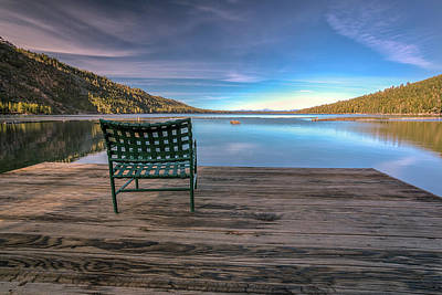 Photograph - Chair On The Dock by Rick Strobaugh