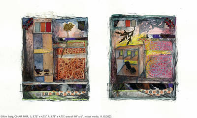 Chair Pair Art Print by Kim Iberg