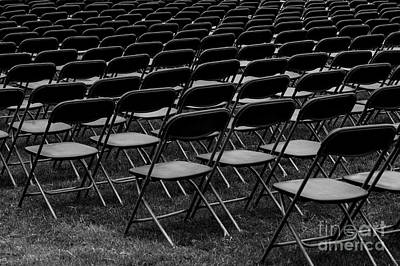 Photograph - Chair Pattern Empty Seats by Jim Corwin