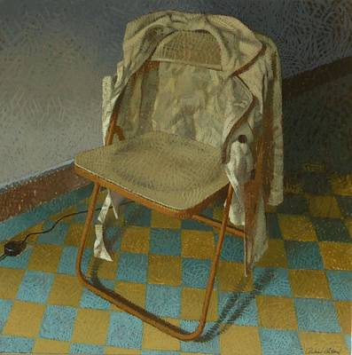 Empty Chairs Painting - Chair by Richard Thibaud