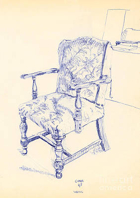 Drawing - Chair by Ron Bissett