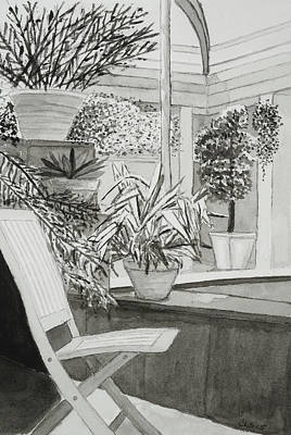 Longwood Gardens Painting - Chair Study #1 by Cynthia Schoeppel