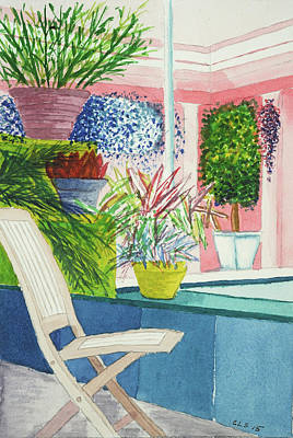 Longwood Gardens Painting - Chair Study #2 by Cynthia Schoeppel