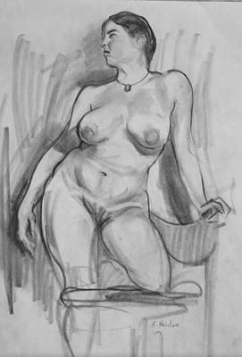 Drawing - Chair Support by Robert Holden