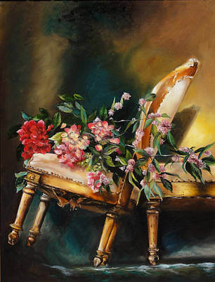 Painting - Chair Tilt by Denise H Cooperman