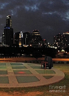 Photograph - Chair With Coat Late Night Out Vertical With Chair by Felipe Adan Lerma