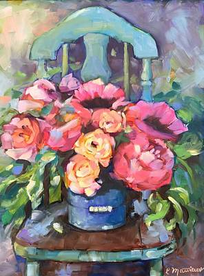 Painting - Chair With Flowers by Rebecca Matthews