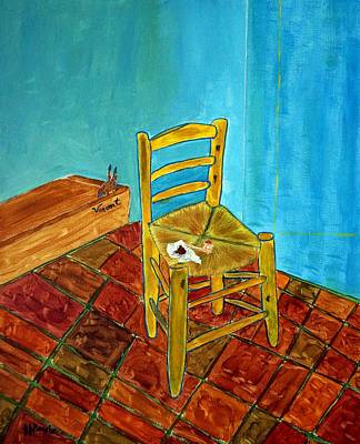 Chair With Pouch Art Print