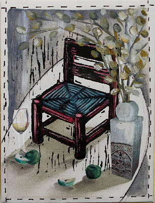 Lino Mixed Media - Chair X by Peter Allan