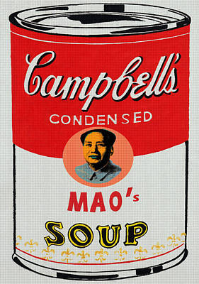 Founding Fathers Mixed Media - Chairman Mao's Soup by Charlie Ross