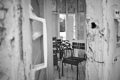 Photograph - Chairs And Doors  by Sophia Pagan