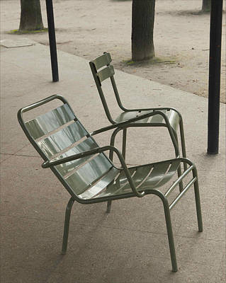 Chairs At Jardin Du Luxembourg Art Print by Paolo Pizzimenti