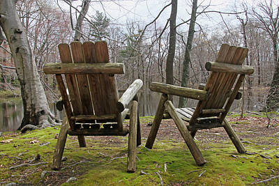 Photograph - Chairs by Bob Slitzan
