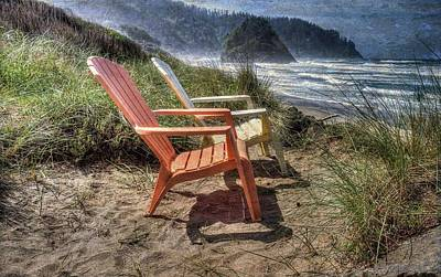 Photograph - Chairs By The Sea by Thom Zehrfeld
