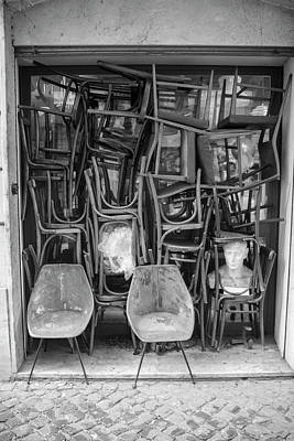 Photograph - Chairs In Doorway Rome  by John McGraw