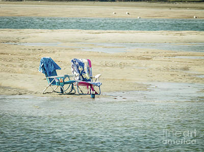 Photograph - Chairs On The Beach by Claudia M Photography