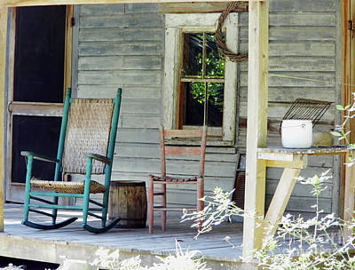Photograph - Chairs On The Front Porch by D Hackett