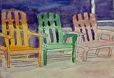 Painting - Chairs by Paul Thompson