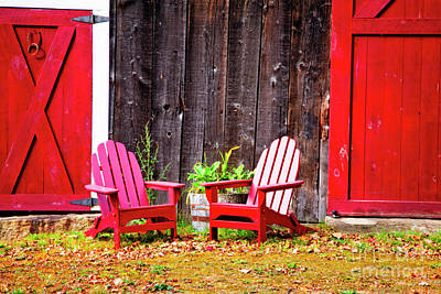 Photograph - Red Chairs by Scott Kemper